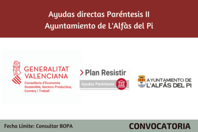 Ayudas Económicas Covid 19 - Ayuntamiento L'Alfàs del Pi