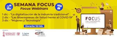 Tres encuentros virtuales componen la Semana Focus Pyme y Emprendimiento CV
