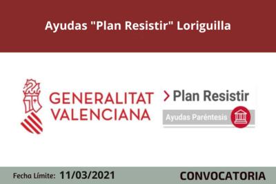 """Ayudas """"Plan Resistir"""" en Loriguilla"""