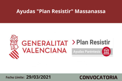 """Ayudas """"Plan Resistir"""" en Massanassa"""